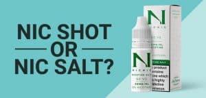Blog Banner Nic Shot or Nic Salt 800x800